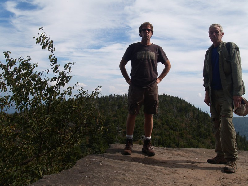"Timer shot of the two of us from the best viewpoint on Indian Head Mountain: The tip of the ""nose"""