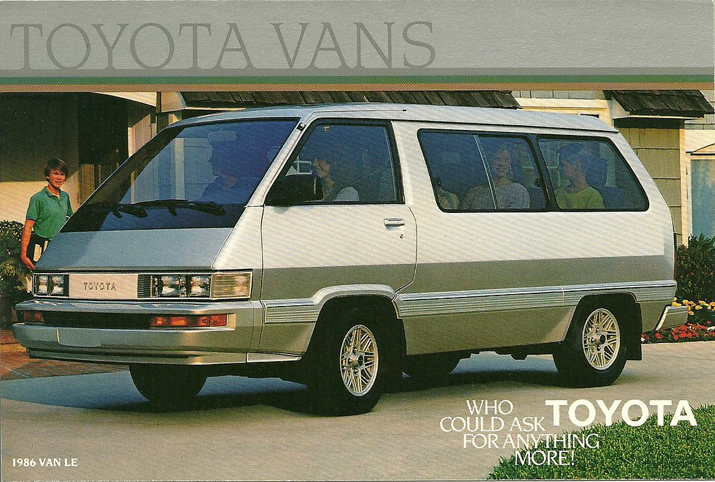 Minivan For Sale >> 1986 Toyota van | Advertising postcard for the early ...