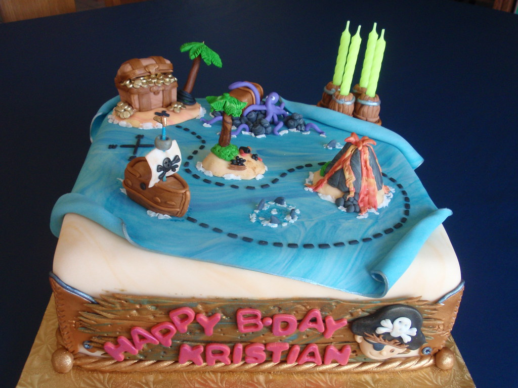 Pirate Cake A Cake For Kristian S 4 Birthday Nora