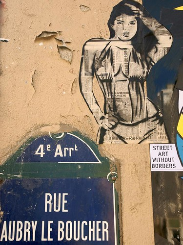 Cris Gommes - Suelen Medeiros - Sexy Girls Without Borders By Eric Marechal in Paris - Stencil | by Cris Gommes