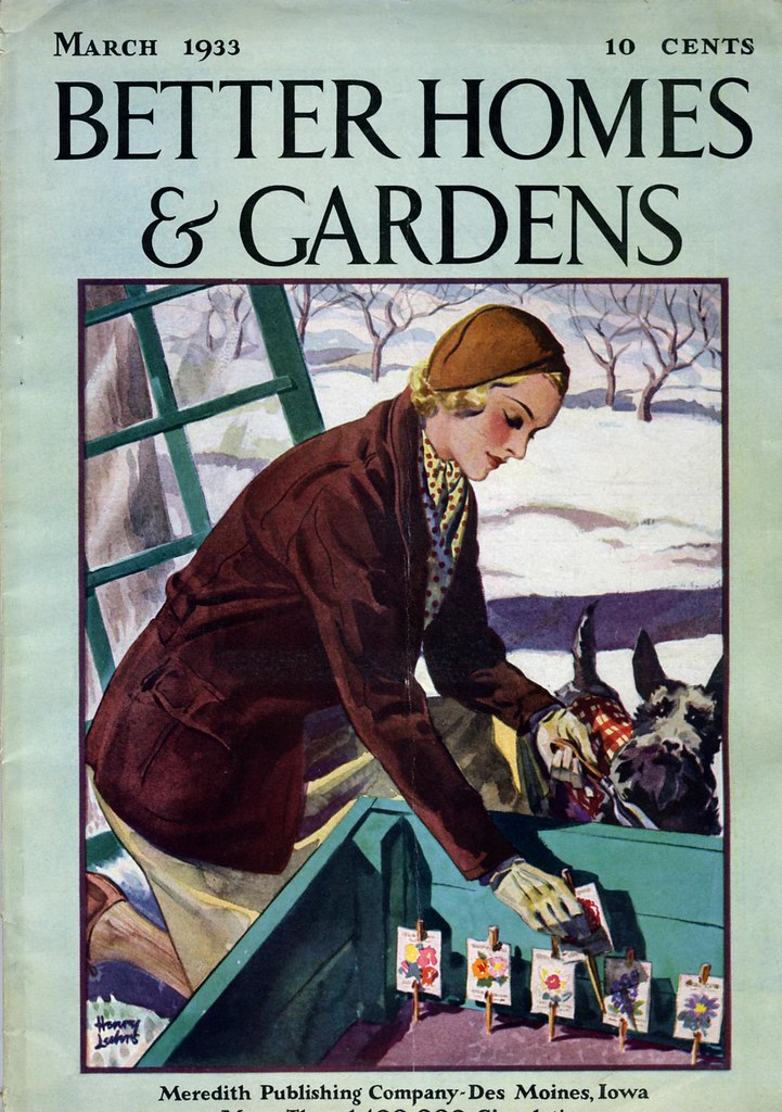March 1933 better homes gardens magazine cover nesster flickr Better homes and gardens march