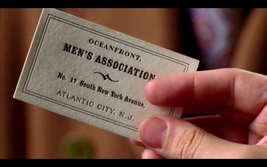 Letterpress Business Card in Boardwalk Empire | In the pilot… | Flickr