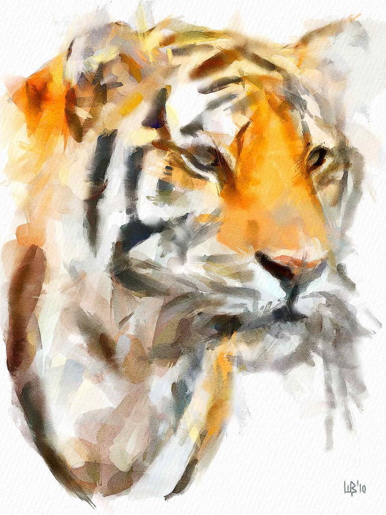 The Tiger Digital Watercolor Dynamic Auto Painter