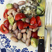 shelling bean salad and lotte (monkfish)