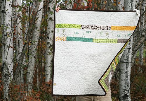 French Botanicals Quilt Back | by Fresh Lemons : Faith