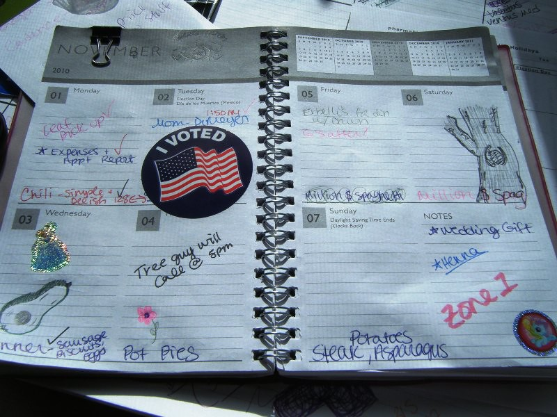 Diy Notebook Calendar : This week my diy notebook calendar for