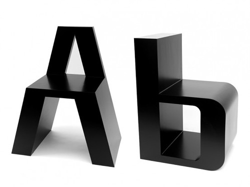 New Inspiration: Typographic-Inspired Chairs   ABC Chairs | by Design Collector