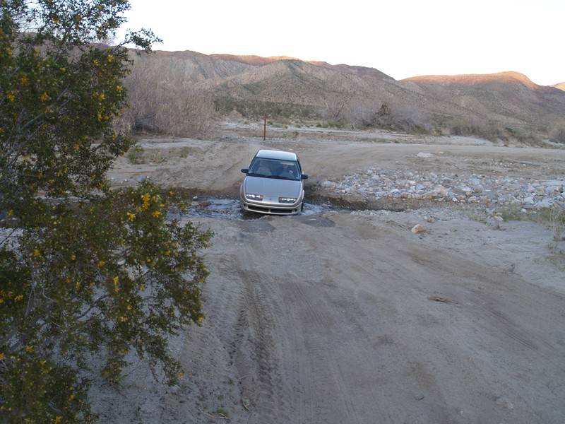 Our car at the First Crossing of Coyote Creek on Coyote Canyon Road
