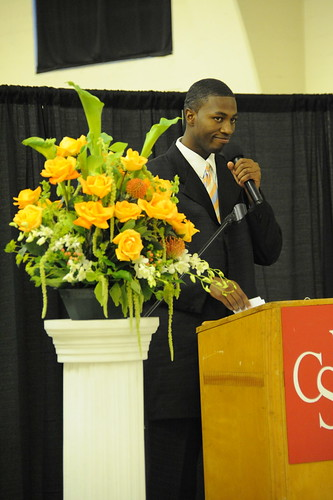 CI student giving a speech during the 2009 Maximus Awards Ceremony | by California State University Channel Islands