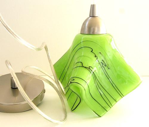 Custom Spring Green Pendant Light