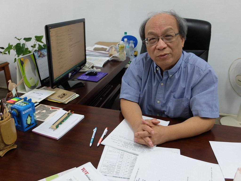 東海大學教授林良恭。攝影:林睿妤。