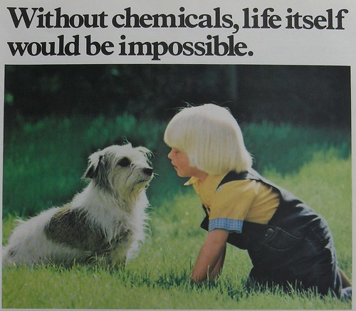 1970s MONSANTO CHEMICALS Vintage Advertisement Kid Dog Creepy Blonde | by Christian Montone