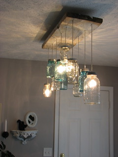Mason Jar Dining room Chandelier | by jenben929