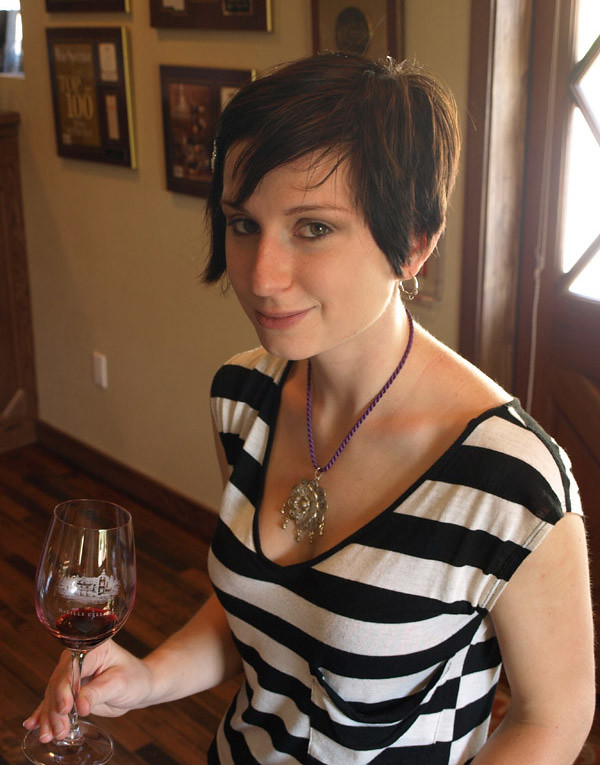 Madeline Puckette Drinking Wine Image From Winefolly Com