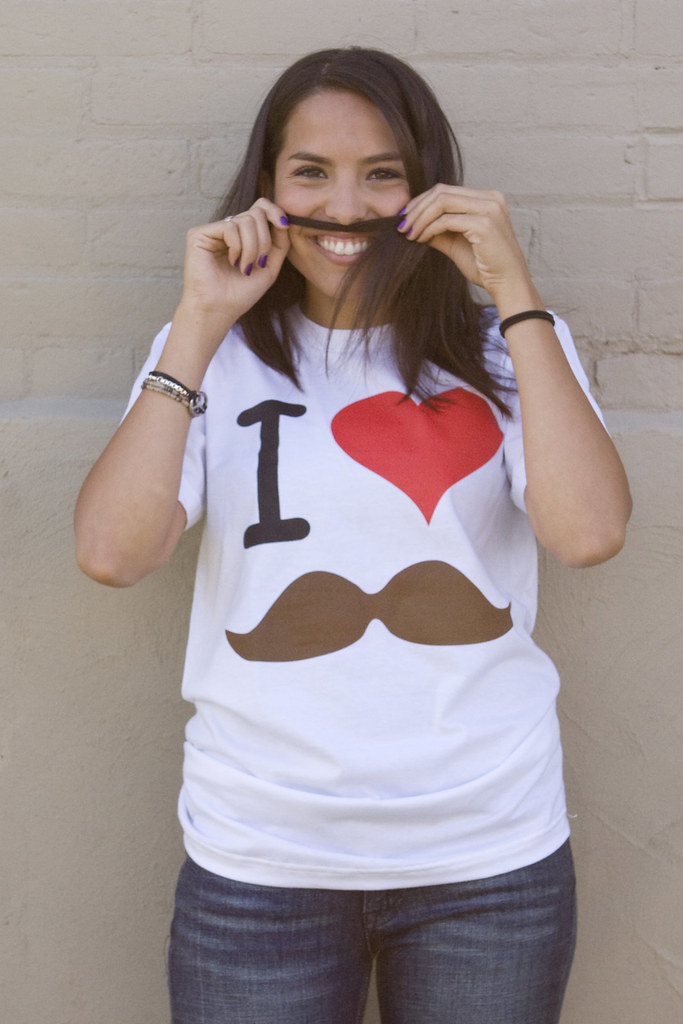 I Love Moustache By Walk In Love Clothing Printed On White Flickr
