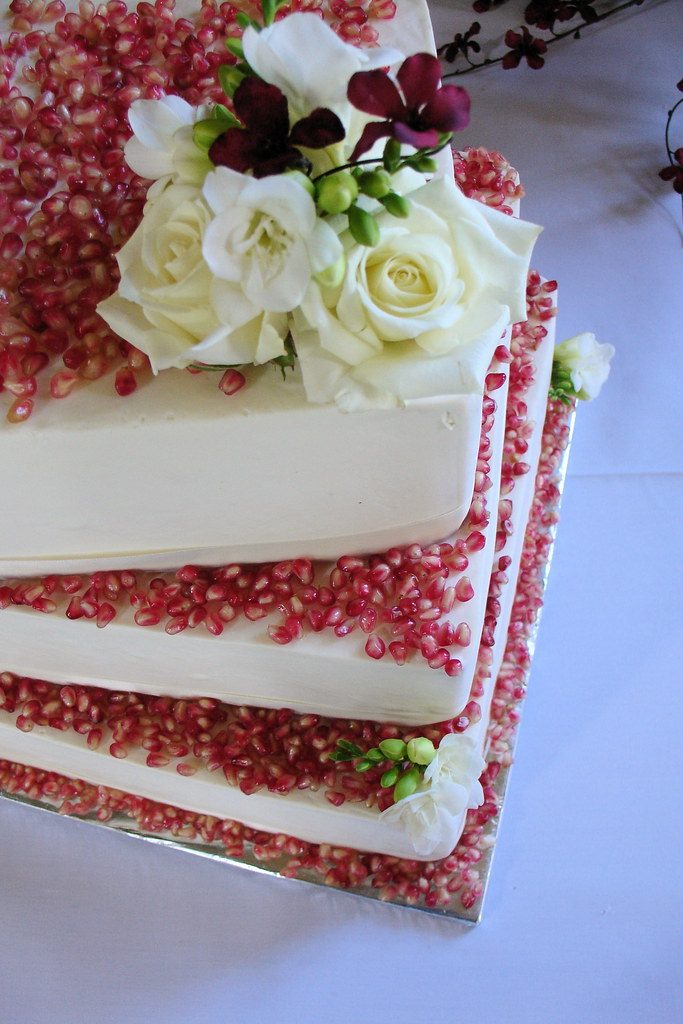red decorated wedding cakes velvet wedding cake decorated with pomegranate and whi 19121