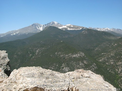 Views toward Long's Peak from Lily Mountain near Rocky Mountain National Park, Colorado