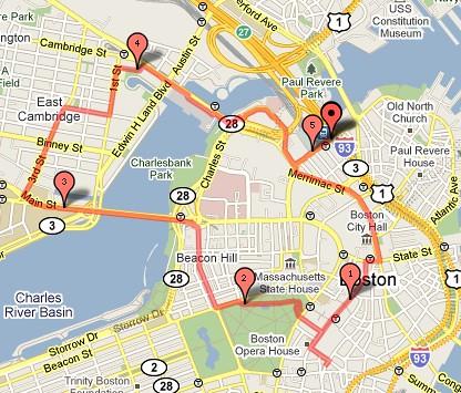 Boston Walking Mapjpg  Leah  Flickr