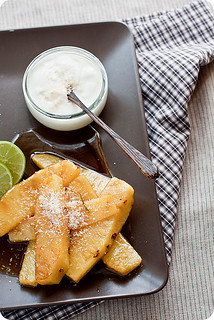 Thai desserts. Fried pineapples | by La Patissiere