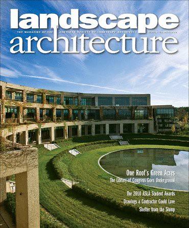 Landscape architecture magazine cover richard layman for Free architecture magazines