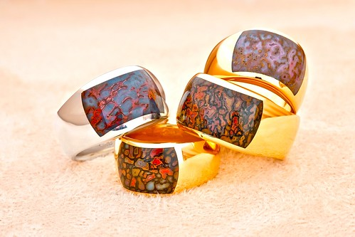 Gembone Inlay Rings