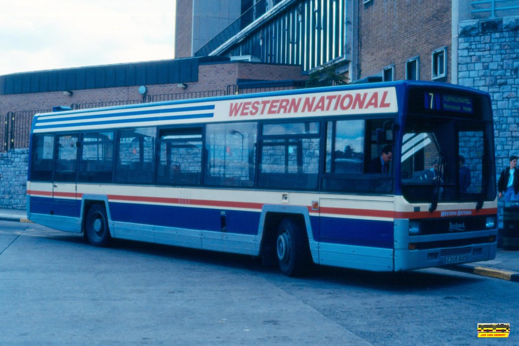 Western National Leyland Lynx 205 E205BOD - Ply., Breton Side BS - 17-07-1991