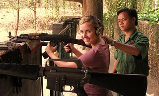 Cu Chi Tunnels - Viet Cong Underground System - Shooting Range - Ash Prepping Her AK47 | by FollowOurFootsteps