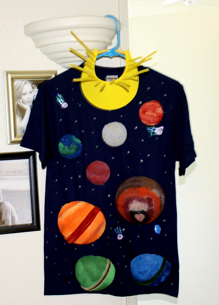 Ty S Home Made Solar System Halloween Costume Complete Wit