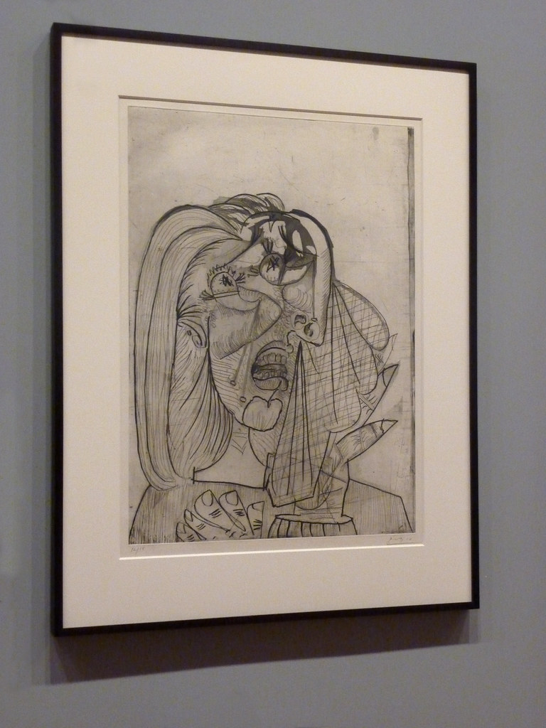 weeping woman by pablo picasso thematic This striking painting of a woman holding a handkerchief to her tear-stained face, is one of a series of images of weeping women that picasso produced in 1937, which were intended to stand.