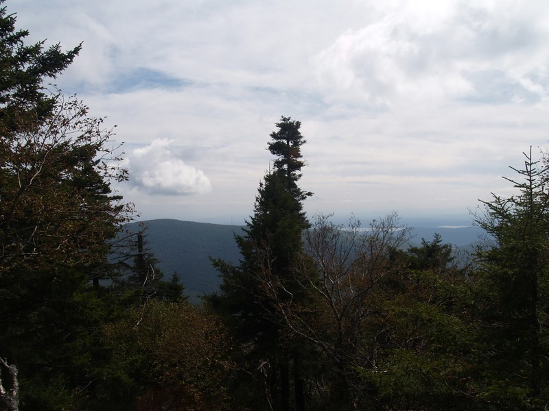 View south toward Overlook Mountain and the Ashokan Reservoir from a viewpoint on Indian Head