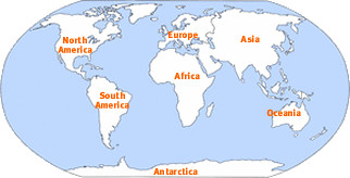 Location Map Of The Continents Of The World This Image H Flickr - Seven continents of the world