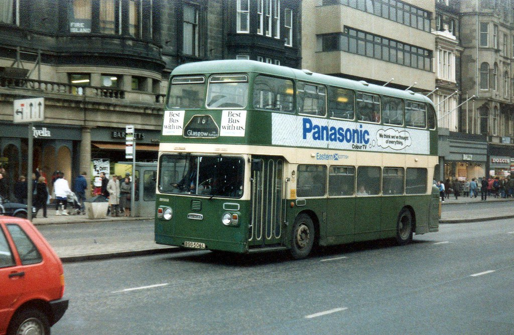 BSG506L Eastern Scottish Daimler Fleetline, ECW,  in Edinburgh 80s