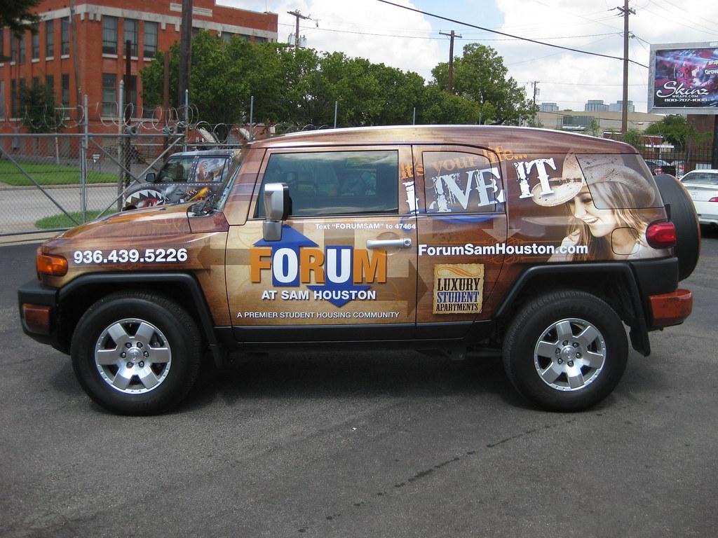 ... Toyota FJ Cruiser Wrap For Forum At Sam Houston In Huntsville, TX  Www.skinzwraps