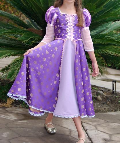Сшить платье рапунцель