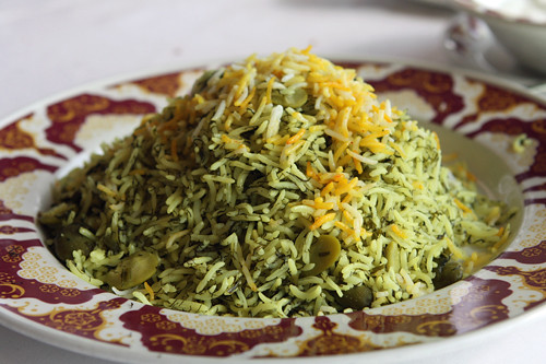 ... herbs rice with fava beans and persian steamed white rice persian rice