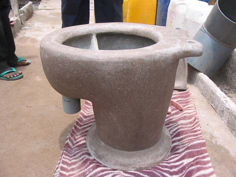 Hand Made Separation Dry Toilet From Concrete Photo By W