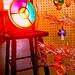 1950s Disc Carousel Light for 1950s 1960s Vintage Evergleam Christmas Tree Zerns Flea Market GILBERTSVILLE, PENNSYLVANIA