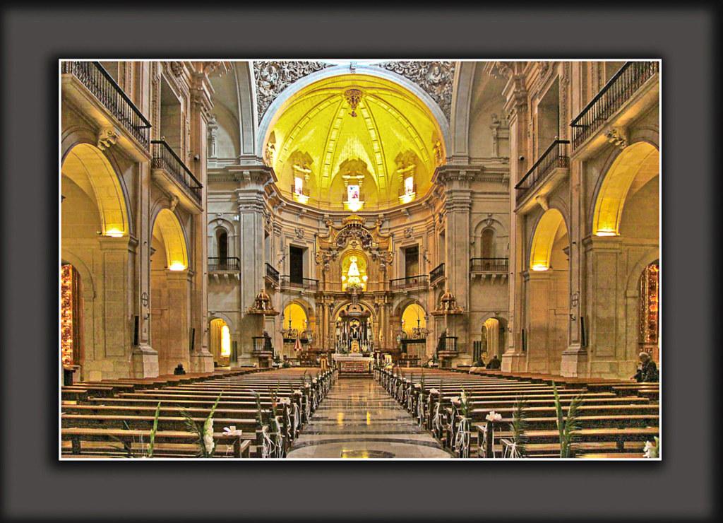 Basilica De Santa Maria Elche Alicante HDR Rodolfo
