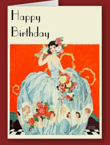 Art Deco Lady Birthday Card : by CharmaineZoeu0026#39;s Marvelous Melange