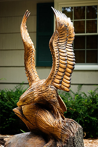Chainsaw carved eagle kendra mccracken flickr