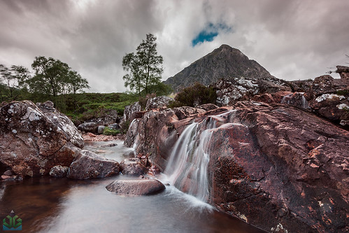 Buachaille Etive Mor Waterfall | by James G Photography