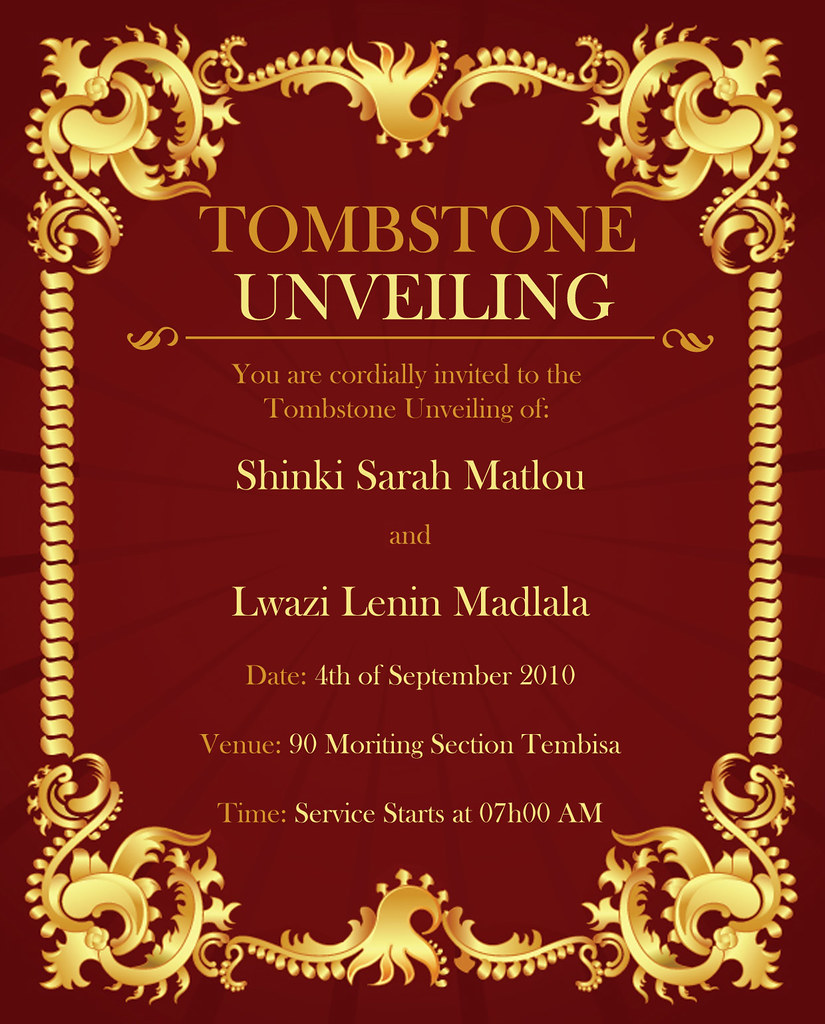 Tombstone unveiling invitations fieldstation tombstone unveiling invitations altavistaventures