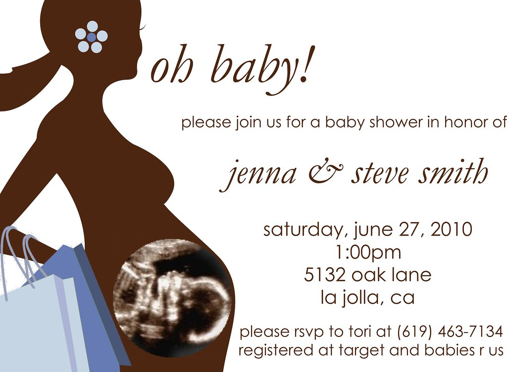 Silhouette Ultrasound Baby Shower Invitations | See this des… | Flickr