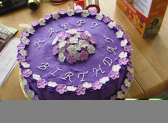 Purple Flower Birthday Cake Vanilla butter cake with butte Flickr