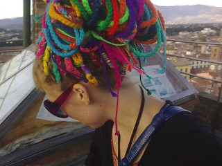 Rainbow Crochet Dread Extensions | by babukatorium