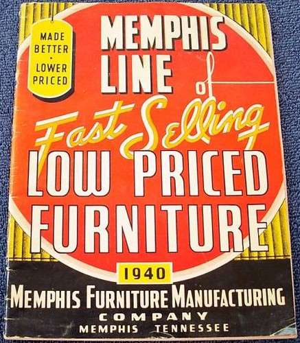 Memphis Furniture Company: 1940 Catalog For Memphis Furniture Manufacturing Company