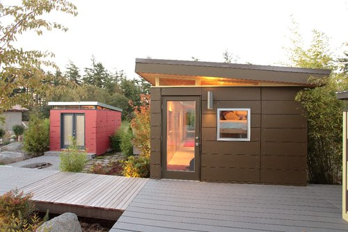 Modern shed modern shed compound in port townsend for Modern prefab shed