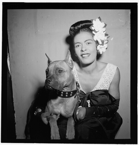 [Portrait of Billie Holiday and Mister, Downbeat, New York, N.Y., ca. Feb. 1947] (LOC) | by The Library of Congress