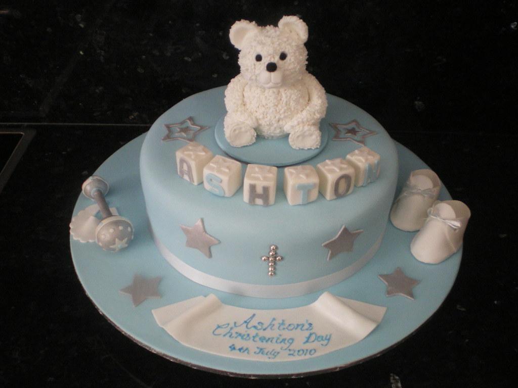 Christening Message On Cake