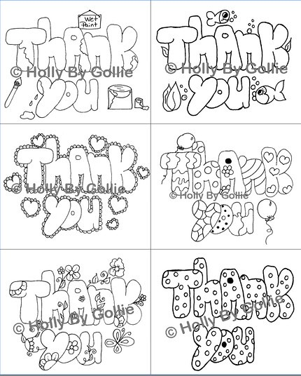 Kids Color Your Own Thank You Six Color Your Own Thank You Flickr